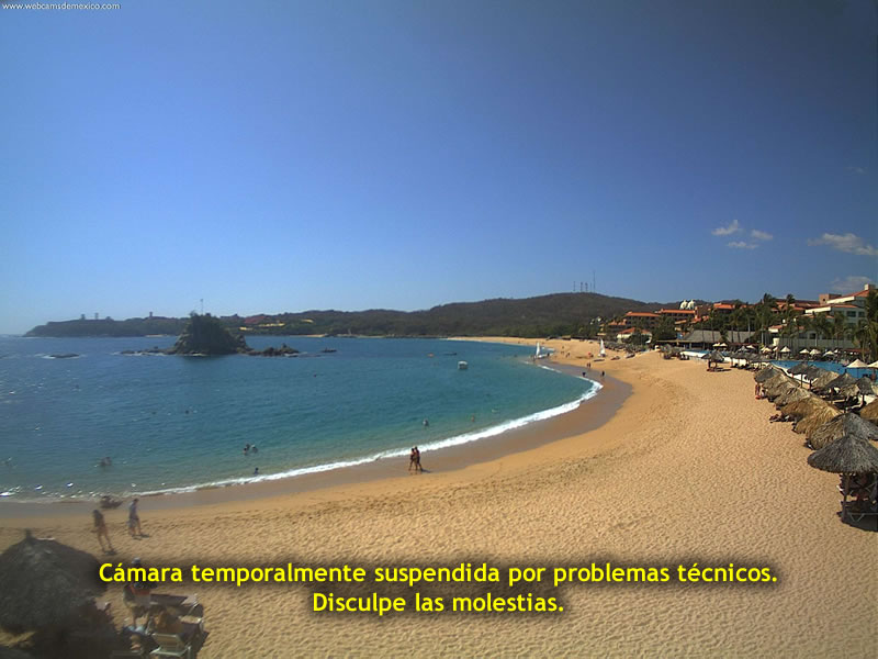 Онлайн веб камера Мексика Хуатулько пляж