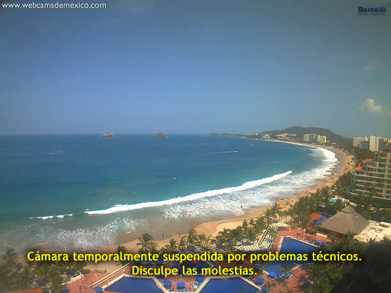 Live webcam of Playa El Palmar in Ixtapa