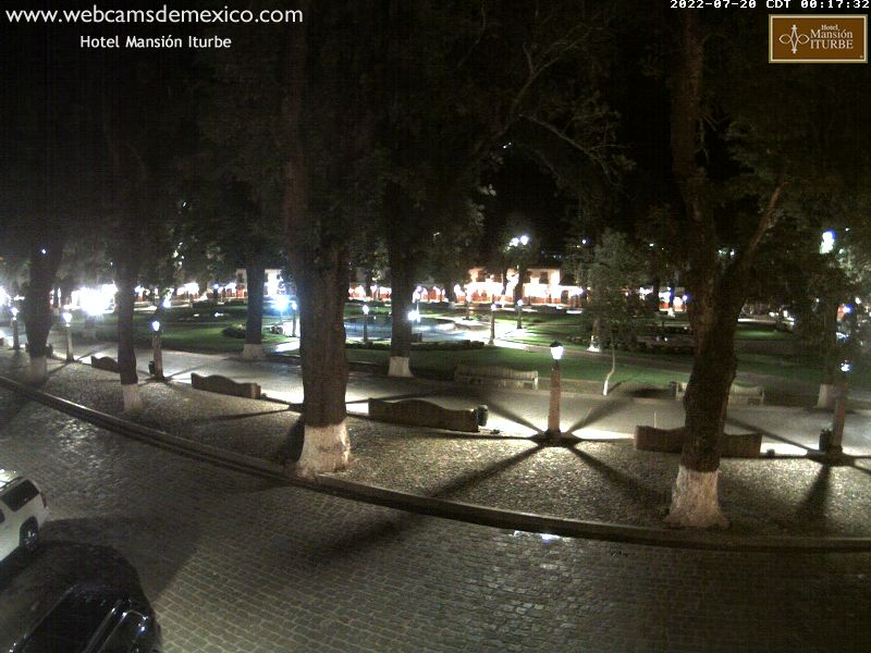 Webcam en vivo de Plaza Don Vasco de Quiroga en Pátzcuaro, Michoacán