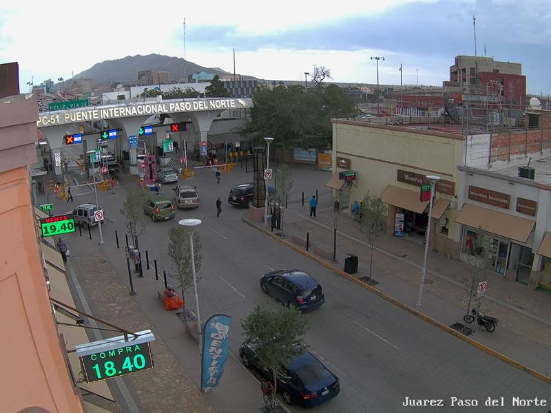 Ciudad Juárez Puente internacional Paso del Norte