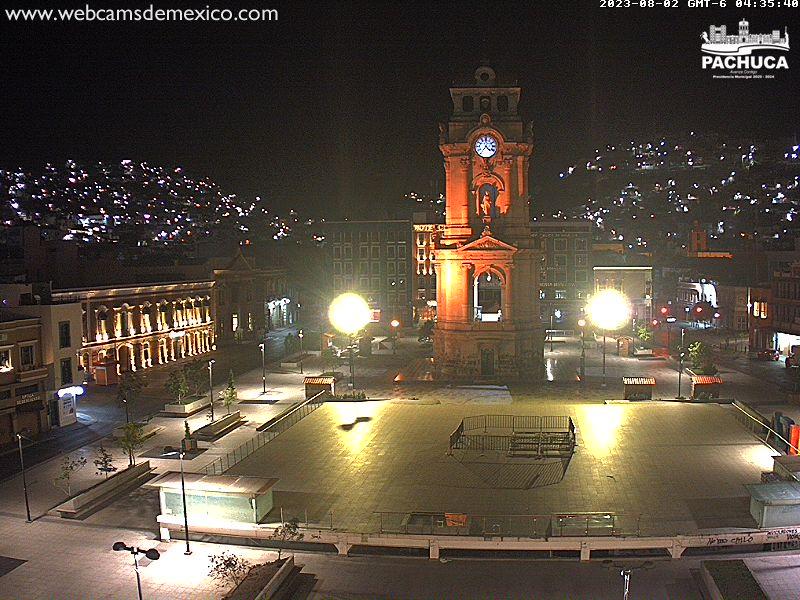 Plaza de Armas de Pachuca vista Norte