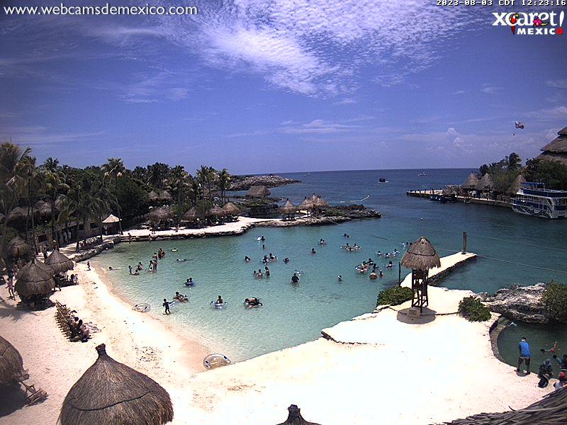 Онлайн веб камера Мексика парк Шкарет (Xcaret)